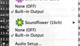 Recording System Sound with SoundFlower and Quicktime
