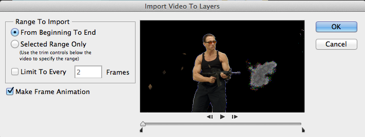 Import Video to Layers