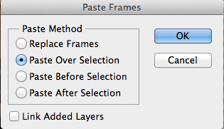 paste over selection